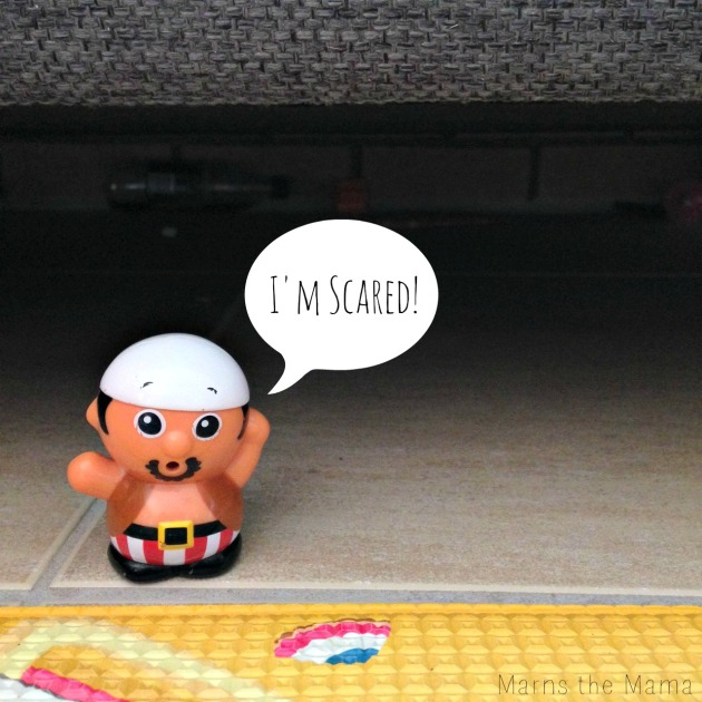 Pirate is scared at what he'll find under the couch