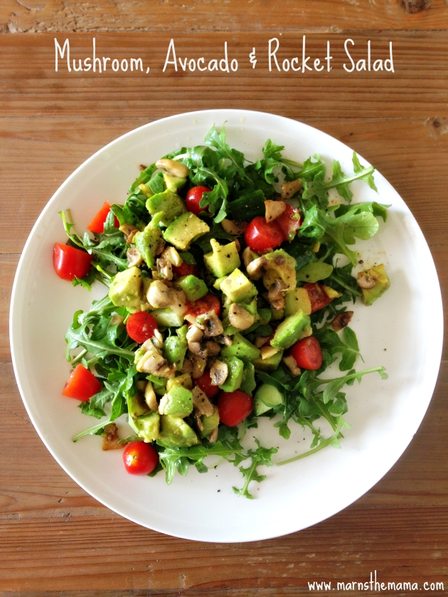 Mushroom Avocado and Rocket Salad Recipe
