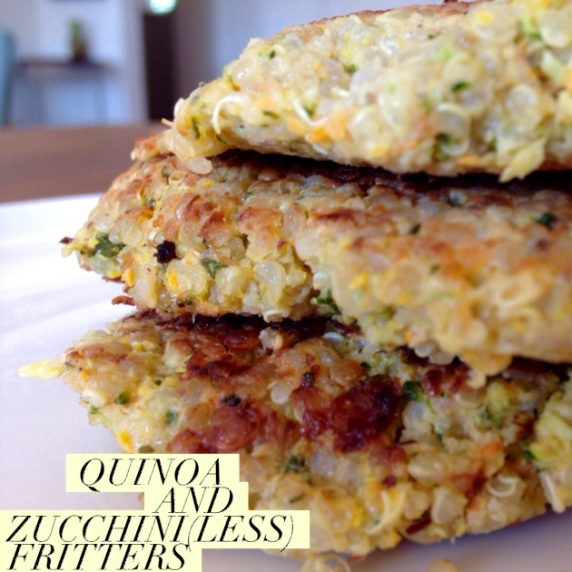 Quinoa and Zucchini(less) Fritters