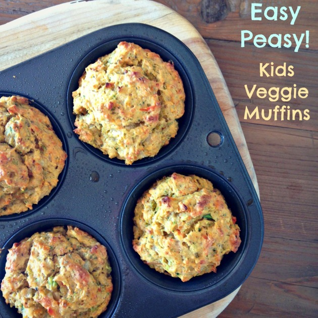 Easy Peasy Kids Veggie Muffins Recipe