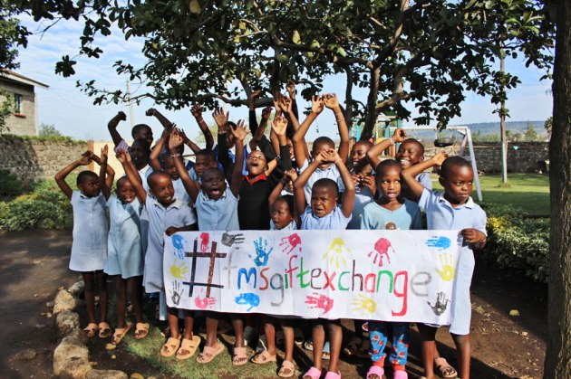 Rafiki kids excited about their new funds raised by the gift exchange