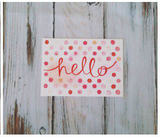 Hello! Scatter Love Postcard